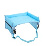 Child Baby Toddler Stroller Organizer Travel Snack Toy Car Seat Activity Tray (Baby Blue)