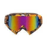Motorcycle Parts Goggles Ski Goggles Outdoor Windproof Glasses (Gold)