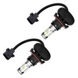 2 PCS H13 IP65 Waterproof White Light 12 CSP LED Car Headlight Bulb, 9-36V / 18W, 6000K / 2000LM