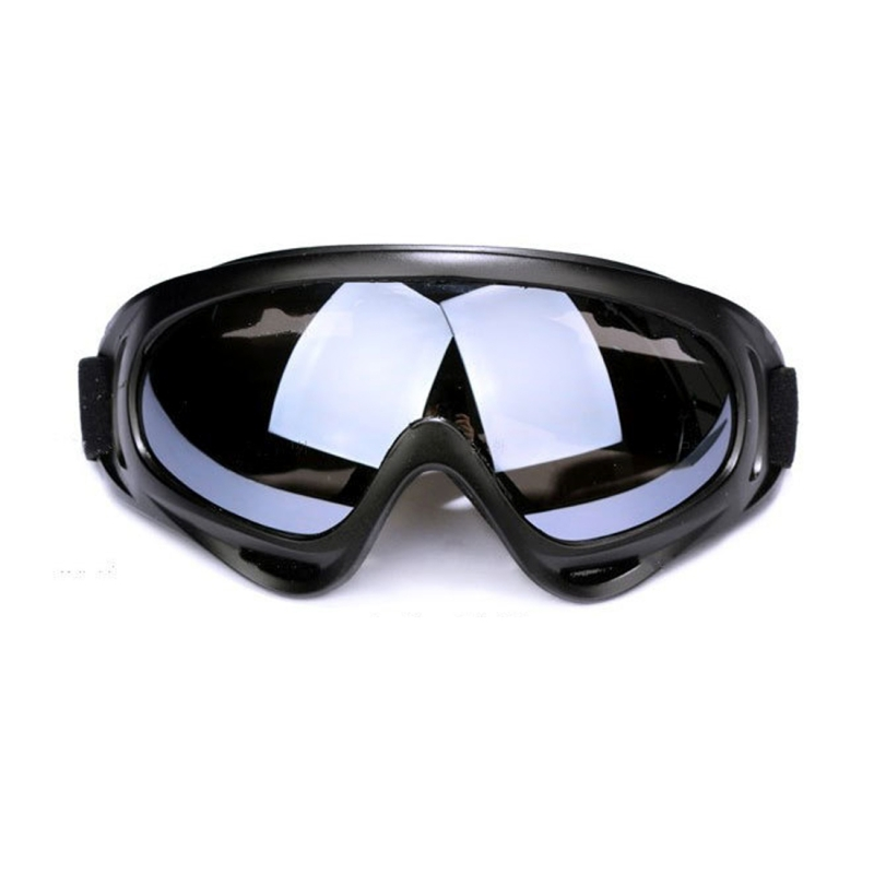 Motorcycle Parts Goggles Anti-UV Goggles Outdoor Windproof Glasses (Black+Grey)