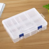 Double layer 8 Slots Plastic Jewelry Box Organizer Storage Container with Adjustable Dividers (White)