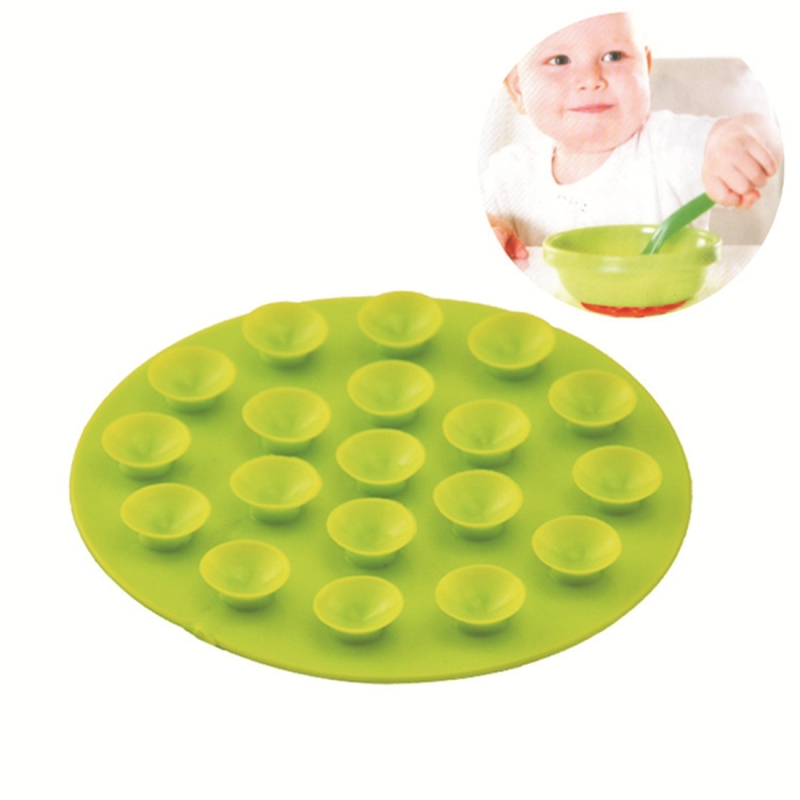 10 PCS Baby Double-sided TPR Anti-skid Pad Strong Suction Placemat, Random Color