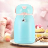 300mL Cartoon Puppy Shape with Bell Mug Cute Portable Children Student Stainless Steel Cup (Cyan)