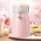 300mL Cartoon Puppy Shape with Bell Mug Cute Portable Children Student Stainless Steel Cup (Pink)