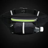 Multi-function Fashion Outdoor Sports Fitness Nylon Bag Water Bottle Waist Bag (Black)