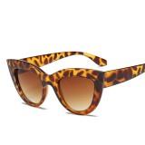 Cat Eye Mirrored Metal Frame UV400 Sunglasses for Women