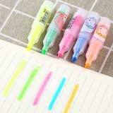 10 PCS Colorful Candy-color Mini Highlighter Pen Key Point Plastic Marker Pen, Random Color