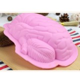Human Brain Shape Silicone Baking Halloween Cake Mold Pudding Dessert Mold (Pink)