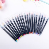 20 PCS / Box Painting Drawing Ink Watercolor Water Color Marker Brush Pen Set