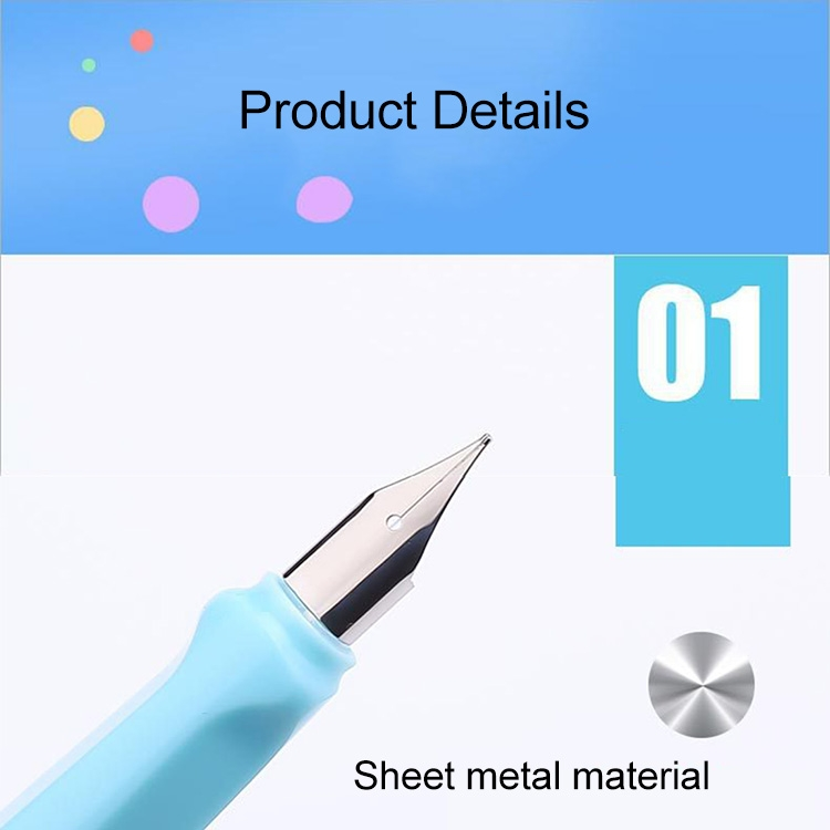 3 PCS School Office Extra Fine Titanium Alloy Nib Transparent Piston Fountain Pen (Clear White), Random Delivery (0.5mm/0.38mm Nib)