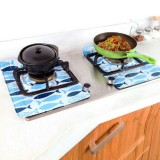2 PCS Gas Stove Protectors Fish Print Foil Heat-resistant Anti-Fouling Liner Cleaning Kitchen Tools Mat