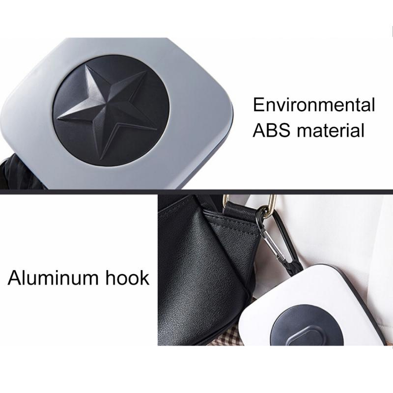 Creative Rotating Foldable Shopping Storage Bag Portable Large Capacity Eco-friendly Nylon Storage Bag, Random Pattern (Transparent)