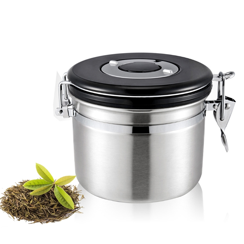 1200ml Stainless Steel Sealed Food Coffee Grounds Bean Storage Container with Built-in CO2 Gas  sc 1 st  Alexnld.com & 1200ml Stainless Steel Sealed Food Coffee Grounds Bean Storage ...