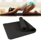 6mm Thickness Eco-friendly TPE Anti-skid Home Exercise Yoga Mat (Black)