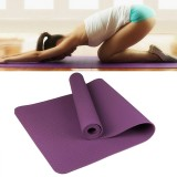 6mm Thickness Eco-friendly TPE Anti-skid Home Exercise Yoga Mat (Dark Purple)