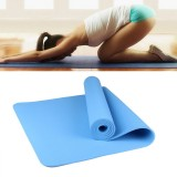 6mm Thickness Eco-friendly TPE Anti-skid Home Exercise Yoga Mat (Blue)