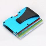 Slim Wallet Money Clip Credit Card Holder, Random Color