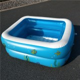 Household Children 1.1m Two Layers Rectangular Printing Inflatable Swimming Pool