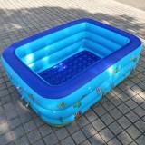 Household Children 1.3m Three Layers Rectangular Printing Inflatable Swimming Pool