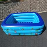 Household Children 1.8m Three Layers Rectangular Printing Inflatable Swimming Pool