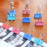 72 PCS / 3 Box Long Tail Ticket Clip Iron Clip File Clip, Random Color