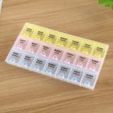 7 Day 21 Slots Pill Medicine Storage Box Pill Vitamins Organizer Box