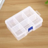 Plastic Jewelry Box Organizer Storage Container with Adjustable Dividers, Size: Large, 6 Slots