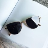 New Style Fashion UV400 Polarized Sunglasses Personality Network Reds Dark Glasses (Gold Frame Black Glasses)