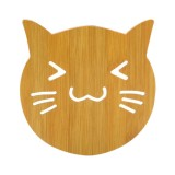 5 PCS Cute Cartoon Kitchen Table Protect Wood Cup Pad Heat Insulation Coaster Mat, Random Style
