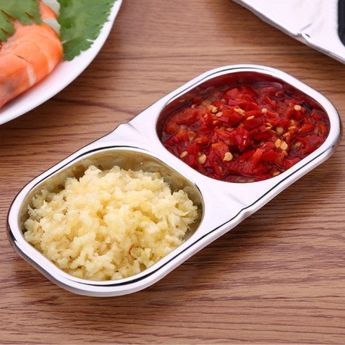 Creative Stainless Steel Kitchen Lattice Seasoning Small Dish, Square Style