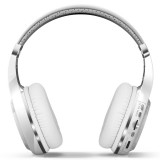 Bluedio H+ Turbine Wireless Bluetooth 4.1 Stereo Headphones Headset with Mic & Micro SD Card Slot & FM Radio, For iPhone, Samsung, Huawei, Xiaomi, HTC and Other Smartphones, All Audio Devices (White)