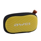 awei Y900 Mini Portable Wireless Bluetooth Speaker Noise Reduction Mic, Support TF Card / AUX (Black+Yellow)