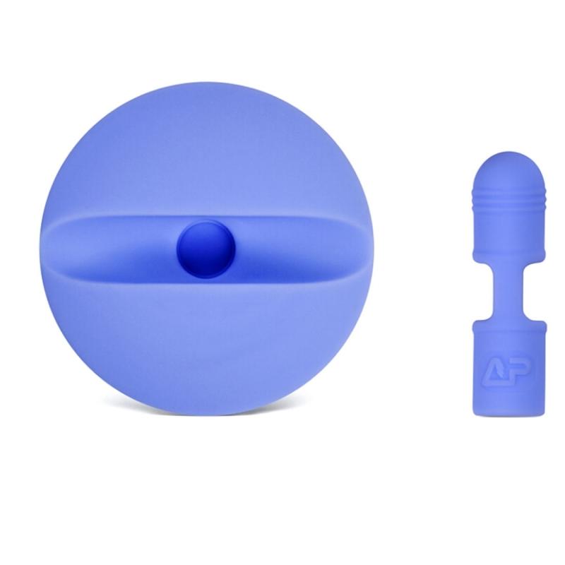 For Apple Pencil Creative Anti-lost (Pencil Cap + Storage Pencil Holder) TouchPen Silicone Protective Cap Set (Dark Blue)
