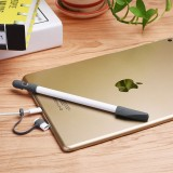 For Apple Pencil Convenient 3 in 1 Anti-lost (Pencil Cap + Pencil Point + Adapter) Protective Bag Apple TouchPen Silicone Protective Set (Grey)