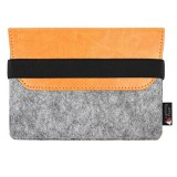PU Leather Protective Storage Case Shell Bag Pouch Soft Sleeve for Apple Magic Trackpad (Orange)