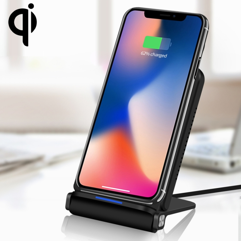 Q200 10W ABS + PC Fast Charging Qi Wireless Fold Charger Pad, For iPhone, Galaxy, Huawei, Xiaomi, LG, HTC and Other QI Standard Smart Phones (Black)