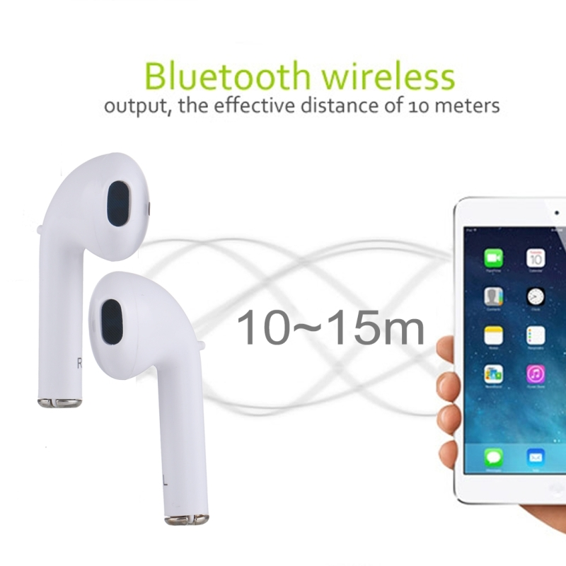 Universal Dual Wireless Bluetooth 4.2 Earbuds Stereo Headset In-Ear Earphone with Charging Box, For iPad, iPhone, Galaxy, Huawei, Xiaomi, LG, HTC and Other Bluetooth Enabled Devices (White)