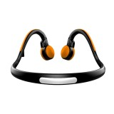 BT-BK Bone Conduction Bluetooth V4.1+EDR Sports Over the Ear Headphone Headset with Mic, For iPhone, Samsung, Huawei, Xiaomi, HTC and Other Smart Phones or Other Bluetooth Audio Devices (Orange)