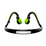 BT-BK Bone Conduction Bluetooth V4.1+EDR Sports Over the Ear Headphone Headset with Mic, For iPhone, Samsung, Huawei, Xiaomi, HTC and Other Smart Phones or Other Bluetooth Audio Devices (Green)