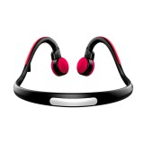 BT-BK Bone Conduction Bluetooth V4.1+EDR Sports Over the Ear Headphone Headset with Mic, For iPhone, Samsung, Huawei, Xiaomi, HTC and Other Smart Phones or Other Bluetooth Audio Devices (Red)