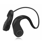 BT-DK Bone Conduction Bluetooth V4.1+EDR Sports Over the Ear Headphone Headset with Mic, Support NFC, For iPhone, Samsung, Huawei, Xiaomi, HTC and Other Smart Phones or Other Bluetooth Audio Devices (Black)