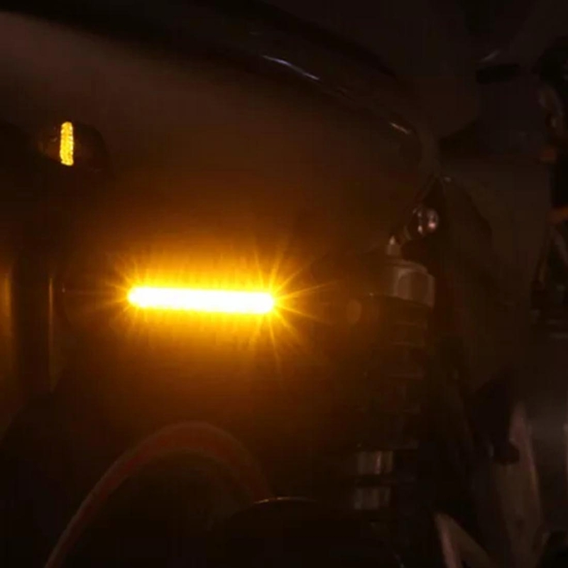 4 PCS DC 12V Motorcycle 12-LED Turn Signal Indicators Blinker Light, (Yellow Light)