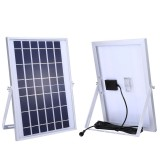 TGD 10W 30 LEDs Solar Flood Light, IP65 Waterproof Smart Light with Solar Panel & Remote Control