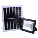 TGD 30W 54 LEDs Solar Flood Light, IP65 Waterproof Smart Light with Solar Panel & Remote Control