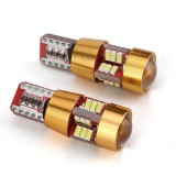 2 PCS SMD-4014 LED Light Bulb 6000K White Super Bright 168 2825 W5W T10 Decoder Replacement, For Car Dome Map Side Marker Door Courtesy License Plate Lights (Gold)