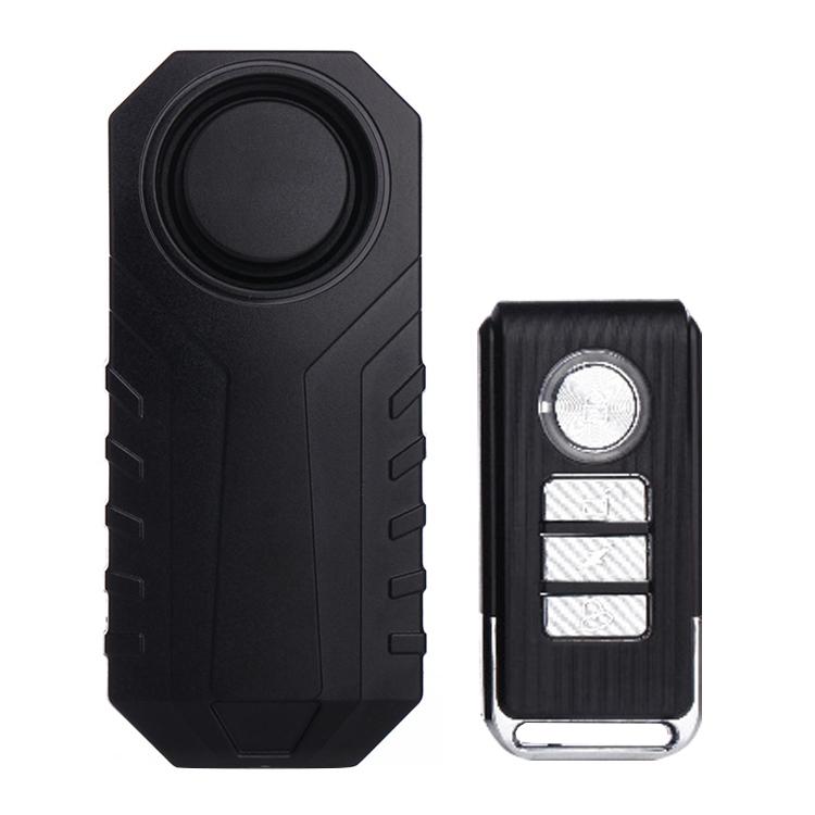 KS-SF22R IP55 Waterproof Wireless 113dB Vibration Burglar Sensor Alarm with Remote Control for Vehicle / Bicycle / Electric Bicycle