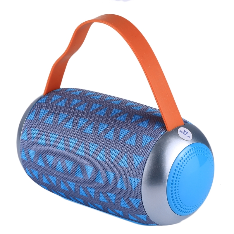 TG112 Portable Bluetooth Speaker, With Mic & FM Radio Function, Support  Hands-free & TF Card & U Disk Play (Gray + Blue)