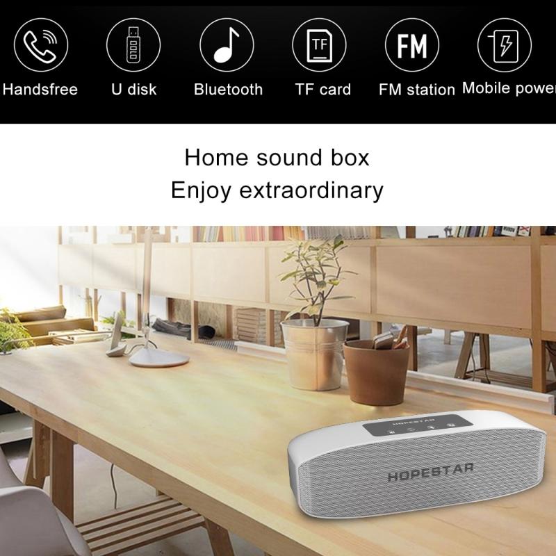 HOPESTAR H11 Mini Portable Rabbit Wireless Bluetooth Speaker, Built-in Mic, Support AUX / Hand Free Call / FM / TF (Silver)