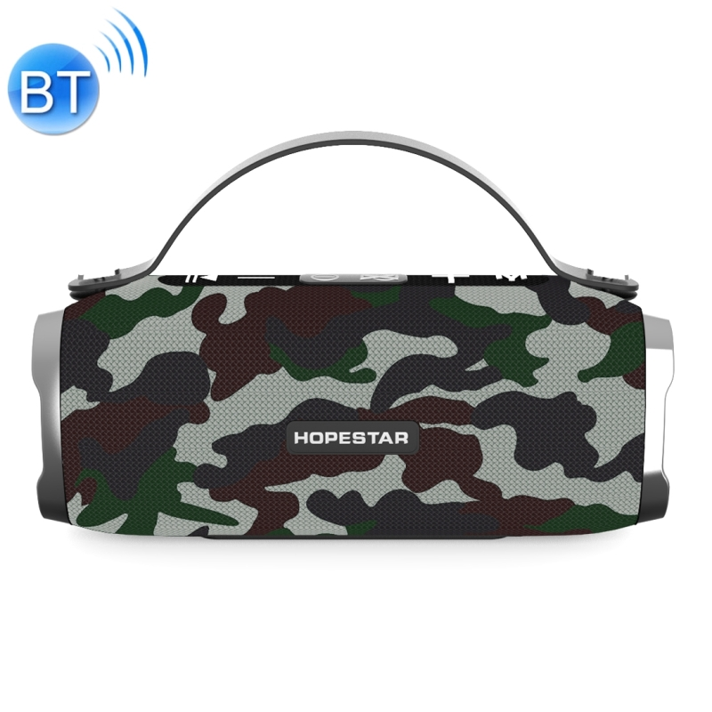 HOPESTAR H24 Mini Portable Rabbit Wireless Waterproof Bluetooth Speaker, Built-in Mic, Support AUX / Hand Free Call / FM / TF (Army Green)