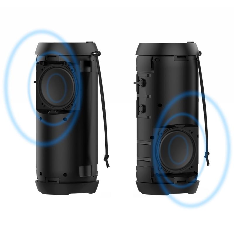 HOPESTAR P7 Mini Portable Rabbit Wireless Bluetooth Speaker, Built-in Mic, Support AUX / Hand Free Call / FM / TF (Black)